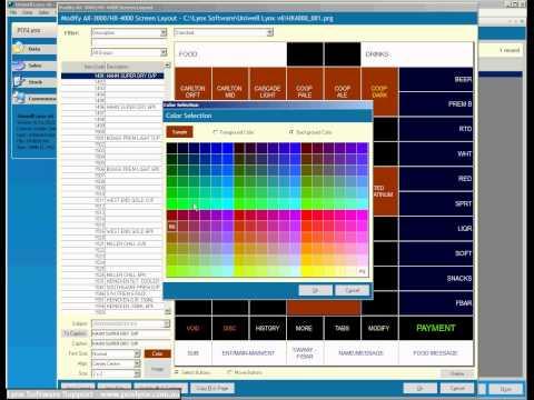 Uniwell Lynx AX/HX Terminal Screen Layout Editor demonstration