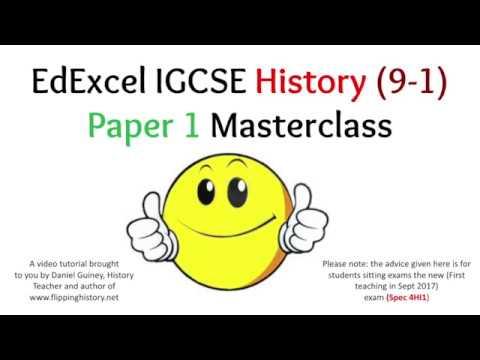 "Yr 11 History students – watch ""EdExcel IGCSE History (9-1"