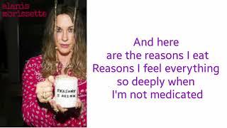 "Reasons I Drink By ""Alanis Morissette"" LYRICS"