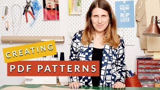 Creating a PDF Sewing Pattern Line: Behind the scenes of an indie pattern maker