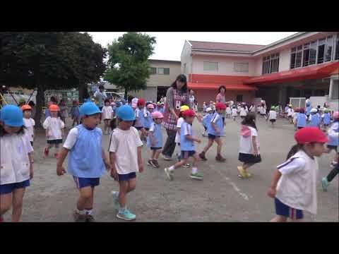 笠間 友部 ともべ幼稚園 子育て情報「梅雨空の下の3分間マラソン」