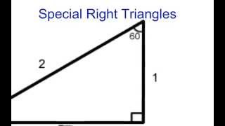 Unit 8: Special Right Triangles