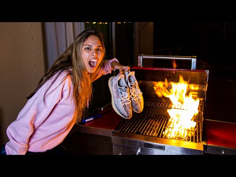 BURNING MY BOYFRIEND'S $500 YEEZYS! (PRANK)