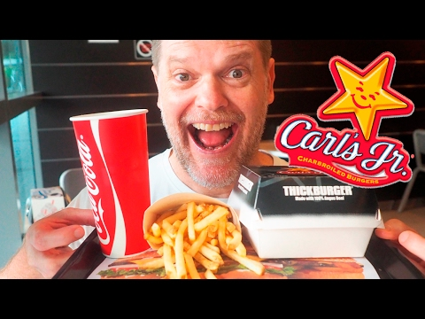CARL'S JR BURGER FOOD REVIEW  – Fast Food Friday – Greg's Kitchen