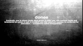 What does donee mean