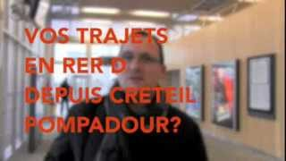 preview picture of video 'Créteil Pompadour : 200 000ème voyageur'