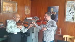 هشام العلوي hicham alaoui مع أستاذي الحاج سعد محمد حسن