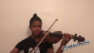 Dave   Funky Friday Ft. Fredo (violin Cover) @sineadsmusic