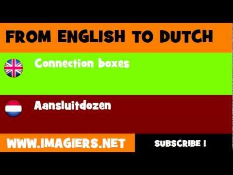 NEDERLANDS = ENGELS = Aansluitdozen