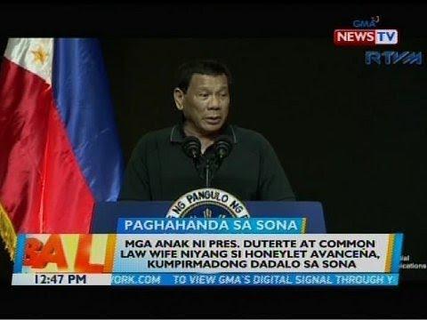 Mga anak ni Pres. Duterte at common law wife niyang si Honeylet Avaceña, kumpirmadong dadalo sa SONA