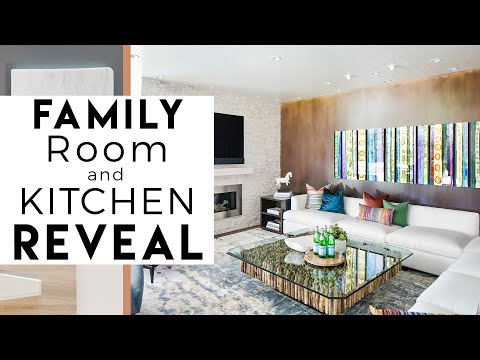 Interior Design | Del Mar Reveal #3 | Kitchen and Family Room