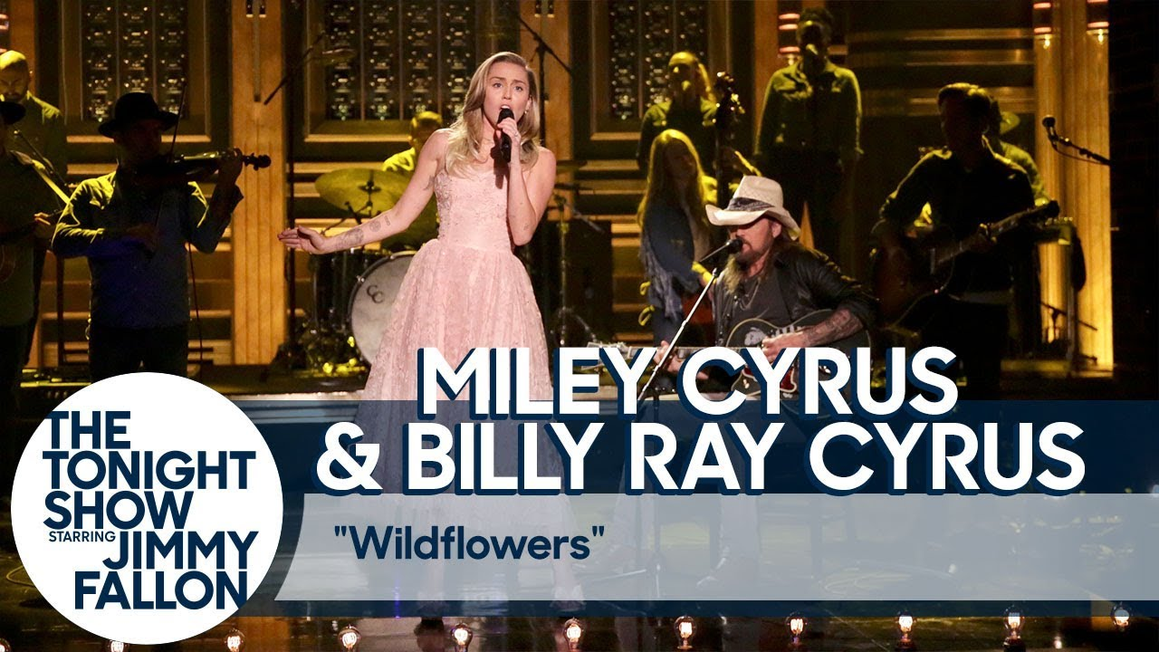 "Miley Cyrus and Billy Ray Cyrus Pay Tribute to Tom Petty with ""Wildflowers"" Cover thumbnail"