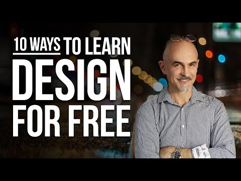10 Ways to Learn Graphic Design for FREE - How To Learn Design Without Spending a Dime