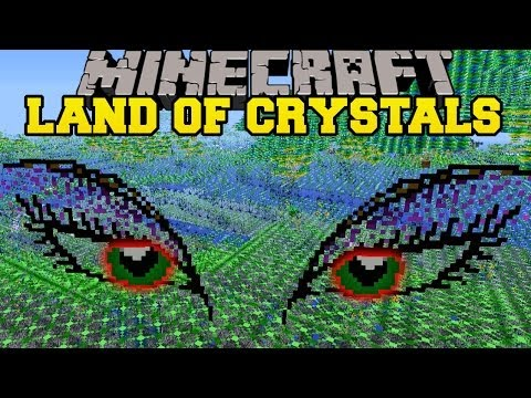 Minecraft: LAND OF CRYSTALS (NEW DUNGEONS, MOBS, BOSS, AND GEAR!) Mod Showcase
