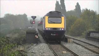 preview picture of video 'First Great Western HST 125 (43088 & 43094), South Greenford, 24/10/12,'