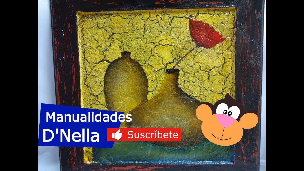 """Como Hacer Craquelado Casero Fácil con Goma  """"By Taller Nella 2017"""""""
