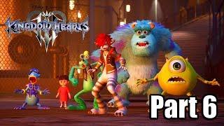 Kingdom Hearts 3 [PS4 PRO] Gameplay Walkthrough Part 6 - Monstropolis (No Commentary)