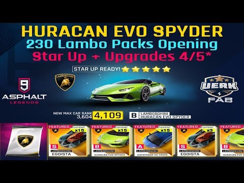 Asphalt 9 - Opening Lamborghini Egoista Limited-time Packs