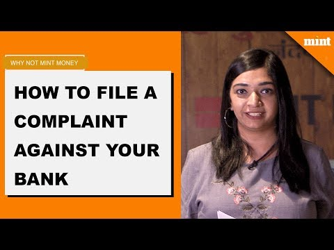 Why Not Mint Money | How to file a complaint against your bank