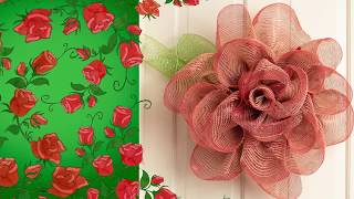 Ombré Mesh Briar Rose Wreath Tutorial