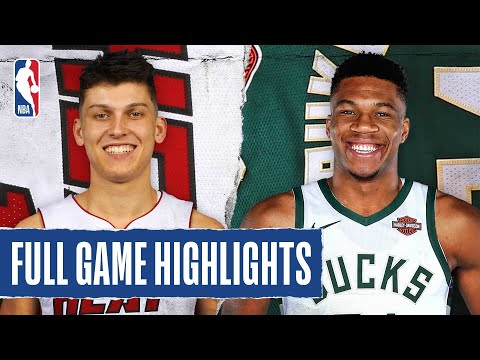 HEAT at BUCKS FULL GAME HIGHLIGHTS | August 6, 2020