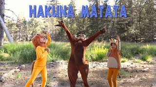 THE LION KING Hakuna Matata Live Action By Martin (8) And Miriam (5)