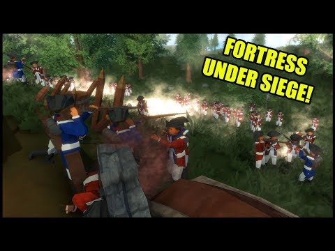 Minutemen UNDER SIEGE from Red Coat Assault - Rise of Liberty American Revolution Battle Simulator