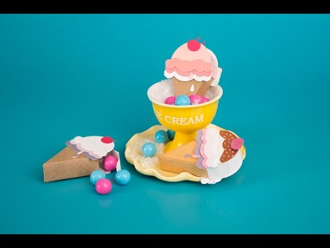 DIY Mini Ice Cream Box by Courtney Chilson | Sizzix