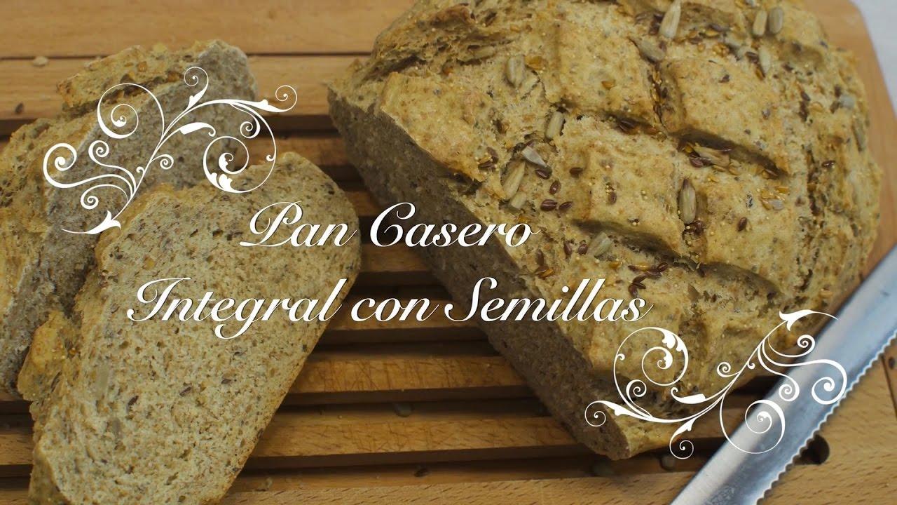 Pan Casero Integral con semillas | Pan Integral | Pan Multicereales | Cómo hacer Pan Casero Integral