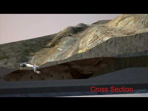 Image of Slope Failure Crushes Sewer Pipe