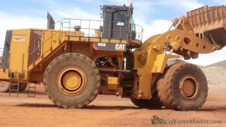CAT 993K loading 777G trucks