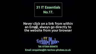 IT Techno-Phobes Limited Tip 17 – IT Support Services In Kidderminster