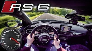 Audi RS6 PERFORMANCE 700 HP AUTOBAHN POV ACCELERATION & TOP SPEED by AutoTopNL