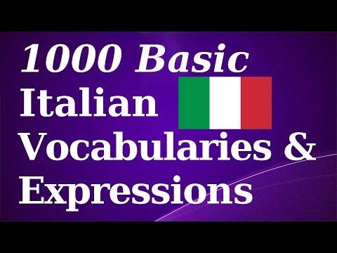 1000 Basic Italian Vocab & Expressions