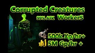 Runescape: Corrupted Creatures - AFK power training.
