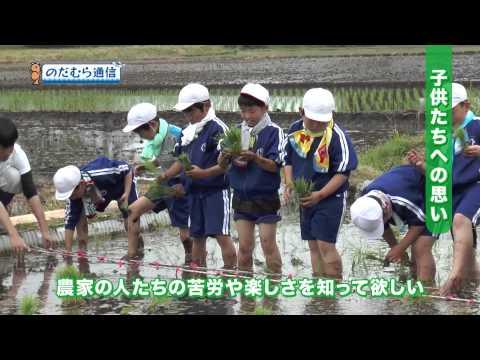 のだむら通信#11「米づくりを学ぶ 野田小学校田植え体験」2015年6月14日放送