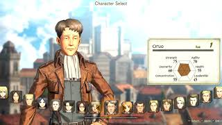 ATTACK ON TITAN 2   All Playable Characters + Stats Online & Offline 2018