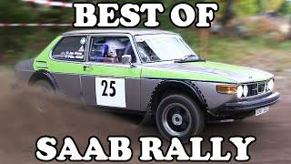 Extreme SAAB Rallying   Crashes & Action