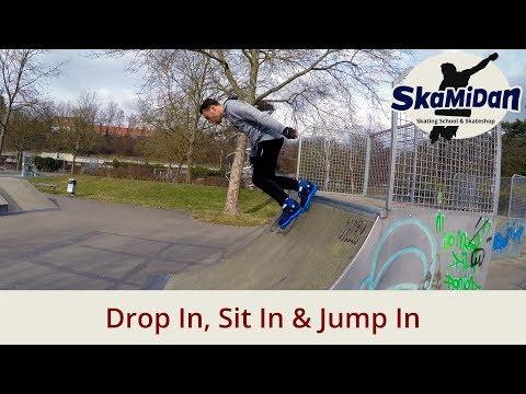 Drop In, Sit In & Jump In - Rampen fahren lernen - 3 Möglichkeiten - Aggressive Inline Basics #04