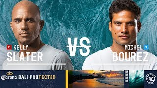 Kelly Slater vs. Michel Bourez - Round of 16, Heat 6 - Corona Bali Protected 2019