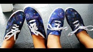 DIY Galaxy Print Shoes With Jackie & Julia!
