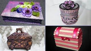 13 идей, как сделать шкатулки из разных материалов.  Шкатулка своими руками