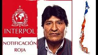 EVO MORALES SERÁ DETENIDO EN CHILE? INTERPOL LANZA SELLO ROJO