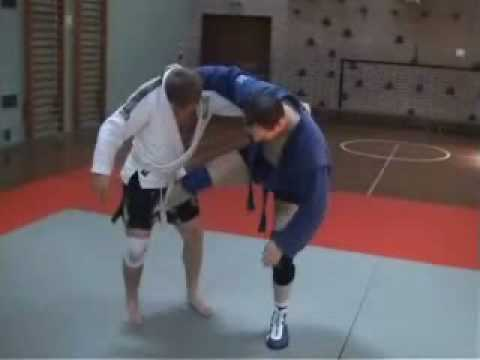 Sambo Techniques - Scissor Takedown