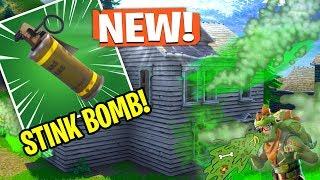 NEW *STINK BOMB* GRENADE In Fortnite! (Fortnite Content Update 4.4)