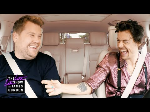 Harry Styles & James Corden Carpool to Work
