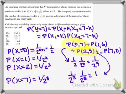 Prob Stat-- Actuarial P Exam Sample Questions - YouTube