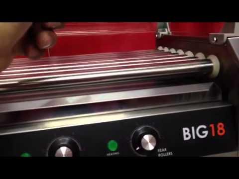 Máquina para asar salchichas