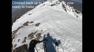 Here's my crappy skiing near Thurstan Peak.