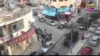 شاهد فيديو بداية المداهمة الأمنية في إربد